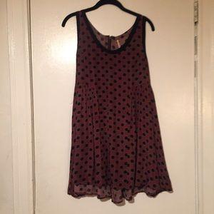 Free People printed tunic or mini dress